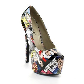 Bumper Women's 'Elle-132' Comic Strip Dress Pumps