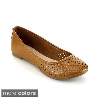 Blossom Women's 'Lynn-10X' Perforated Vamp Ballet Flats