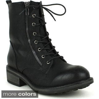 Mark & Maddux Women's 'WII-01' Lace-up Combat Boots