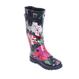 Women's Flower Garden Design Mid-calf Rain Boots