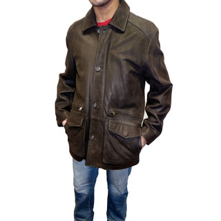 Reilly Olmes Men's Brown Nubuck Leather Jacket