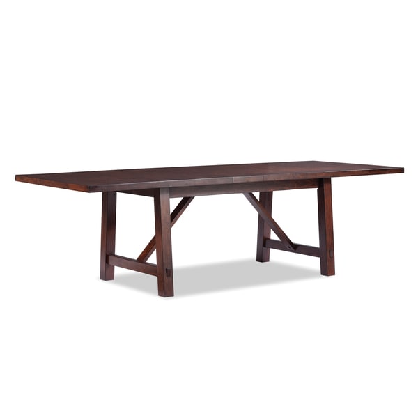 Intercon Bench Creek Rustic Knotty Oak Dining Table