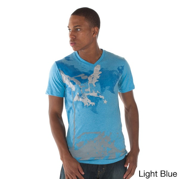 A2MUSA Men's 'Eagle Star' Graphic V-neck T-shirt