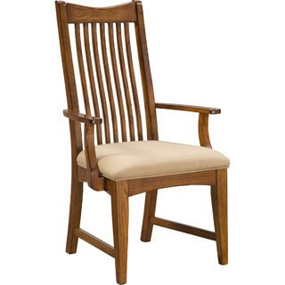 Intercon Pasadena Revival Solid Oak Mission Arm Chair (Set of 2)