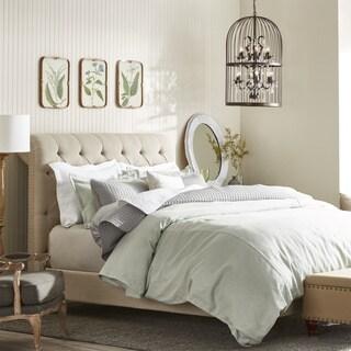 Oxford Beige Linen Platform Bed
