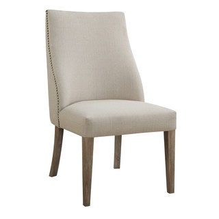 Emerald Beige Upholstered Parsons Chair (Set of 2)