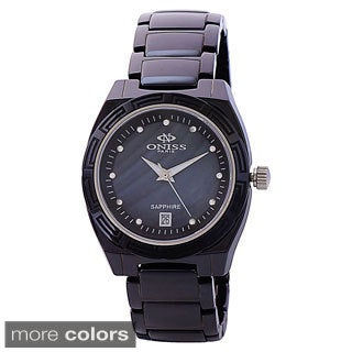 """Oniss Women's Stainless Steel """"Dream"""" Collection Crystal Watch"""