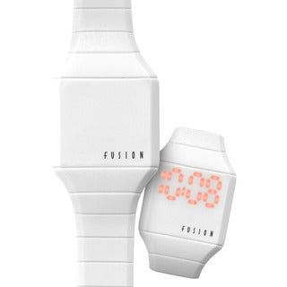 Dakota Fusion Mini 'White Hidden Touch' Digital LED Watch