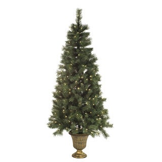 6-foot Pre-lit Mixed Pine Tree in Pot