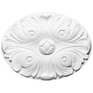6-inch Oval Rose Medallion or Millwork Accessory
