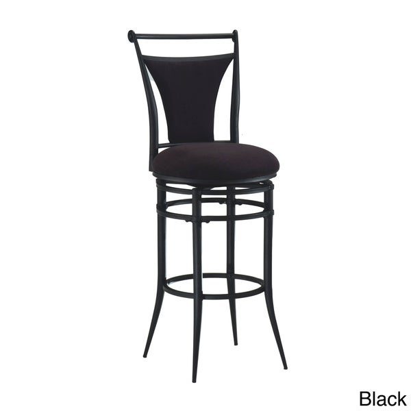 Cierra Metal and Faux Suede Swivel Stool 13842006
