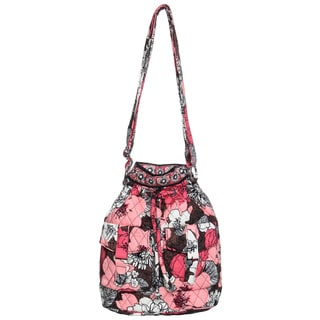 Vera Bradley Mocha Rouge Quick Draw Shoulder Bag