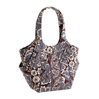 Vera Bradley Slate Blooms Side by Side Shoulder Bag