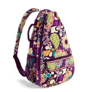 Vera Bradley Plum Crazy Sling Tennis Backpack