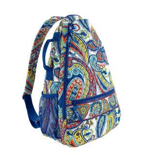 Vera Bradley Marina Paisley Sling Tennis Backpack