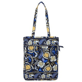 Vera Bradley Ellie Blue Laptop Travel Tote