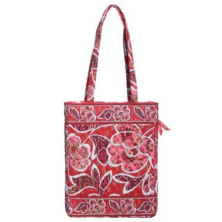 Vera Bradley Rosy Posies Laptop Travel Tote