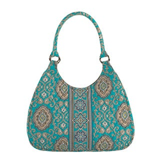 Vera Bradley Totally Turquoise Large Hobo Bag