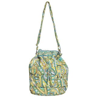 Vera Bradley Lemon Parfait Quick Draw Shoulder Bag