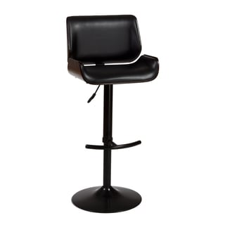 Radcliff Metal, Wood and Leatherette Adjustable Bar Stool