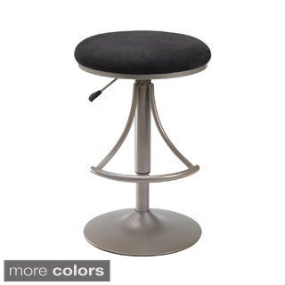 Venus Microfiber-seat Backless Swivel Bar Stool
