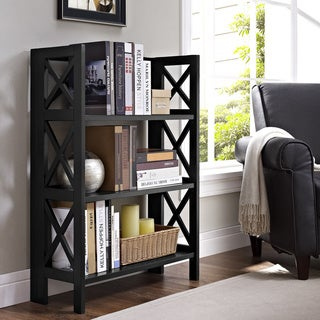 Linon Three Shelf Folding Bookcase