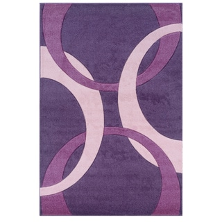 Oh! Home Corfu Collection Purple/ Baby Pink Area Rug (5' x 7'7)