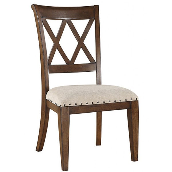 Emerald Umber Double X-back Side Chair (Set of 2)