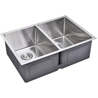Starstar Double Handmade Undermount 16-gauge 304-stainless Steel Kitchen Sink