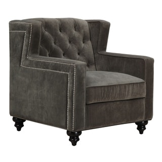Sydney Pewter Velvet Chair