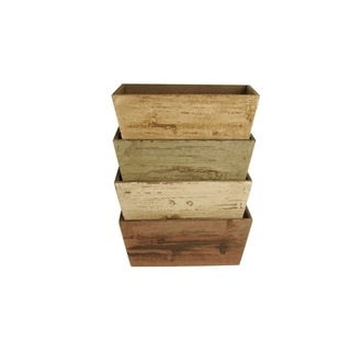 Wald Imports Double Assorted Planters (Set of 4)