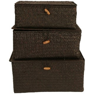 Brown Seagrass Trunks (Set of 3)