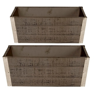 Wald Imports Wood Planter (Set of 2)