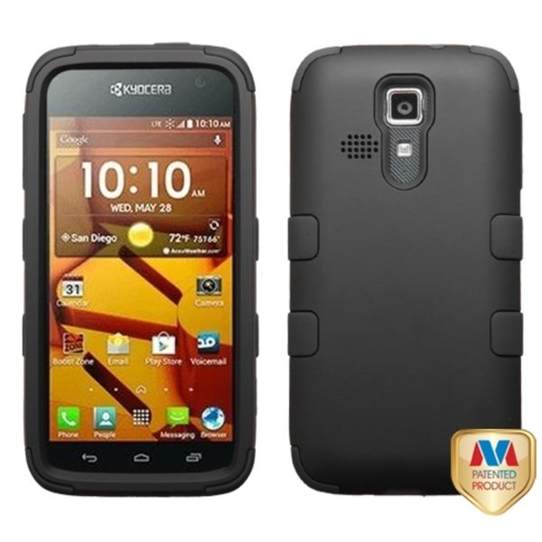 INSTEN Shock Proof PC Soft Silicone Hybrid Phone Case Cover for Kyocera Hydro Life/ Hydro Icon