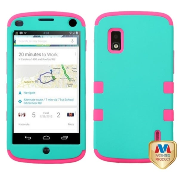 BasAcc Shockproof 3-piece PC Silicone Hybrid Case for LG Nexus 4 E960 T-Mobile
