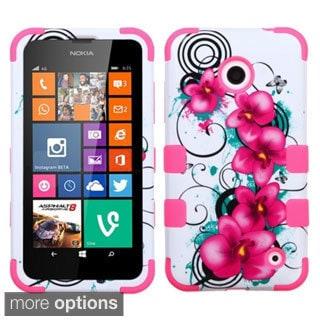 Insten Shockproof 3-piece PC Soft Silicone Hybrid Phone Case for Nokia Lumia 630/ 635