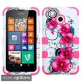 Insten Shockproof 3-piece PC Soft Silicone Hybrid Phone Case for Nokia Lumia 630/ 635