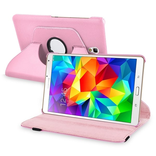 INSTEN Swivel Rotating Stand Leather Tablet Case Cover for Samsung Galaxy Tab S 8.4 T700