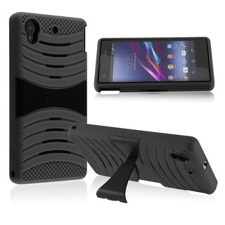 BasAcc Screen Protector Stand PC Silicone Hybrid Case for Sony Xperia Z1s