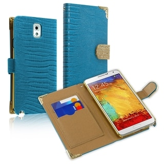 BasAcc Lanyard Magnetic Snap Wallet Leather Case forSamsung Galaxy Note 3