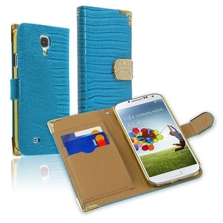 BasAcc Lanyard Magnetic Snap Wallet Leather Case forSamsung Galaxy S4