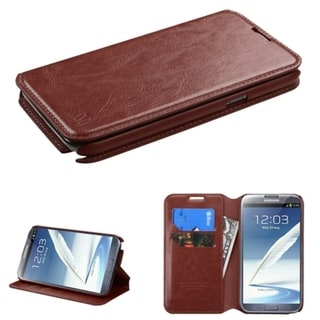BasAcc Stand Wallet Card Slots Leather Case for Samsung Galaxy Note 2