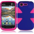 INSTEN Colorful Dynamic PC Soft Silicone Hybrid Phone Case Cover for LG Optimus Zone 2 II/ Fuel