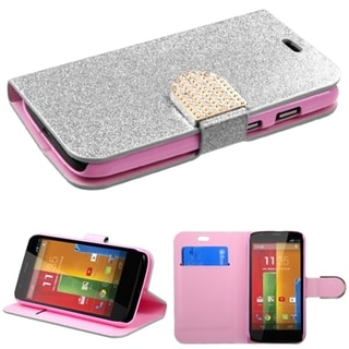 BasAcc Glittering Magnetic Stand Wallet Leather Case for Motorola Moto G