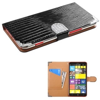 INSTEN Crocodile Skin Stand Card Wallet Leather Phone Case Cover for Nokia Lumia 1320