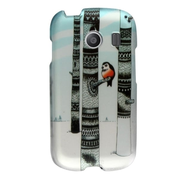 INSTEN Pattern Dust Proof Rubberized Hard Plastic Phone Case Cover for Samsung Galaxy Ace Style