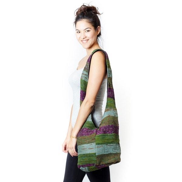 Handmade Recycled Silk Vibrant Market Purse (India) 13845504