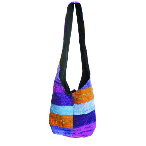Recycled Silk Vibrant Market Purse (India)