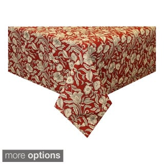 Burgundy Floral tablecloth (India)