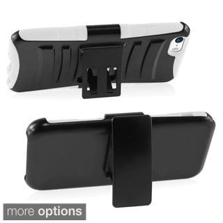 BasAcc Sturdy Holster Stand Silicone PC Hybrid Case for Apple iPhone 6 4.7-inch